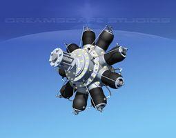 3D Rotary Aircraft Engine
