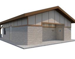 3D model Public Building-001 Restroom