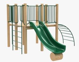 outdoor kid play recreation equipment 3D model