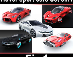 Hover sport cars Set 5in1 3D
