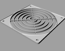 protection grid for 120 mm fan 3D print model