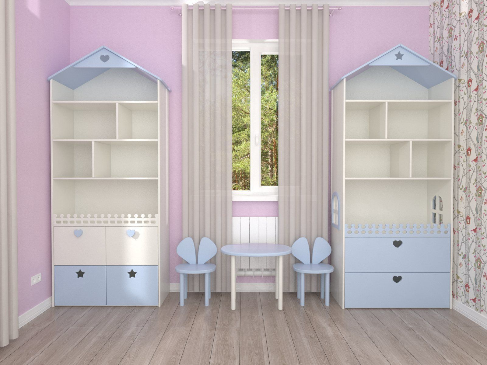 Shelving house and toy storage