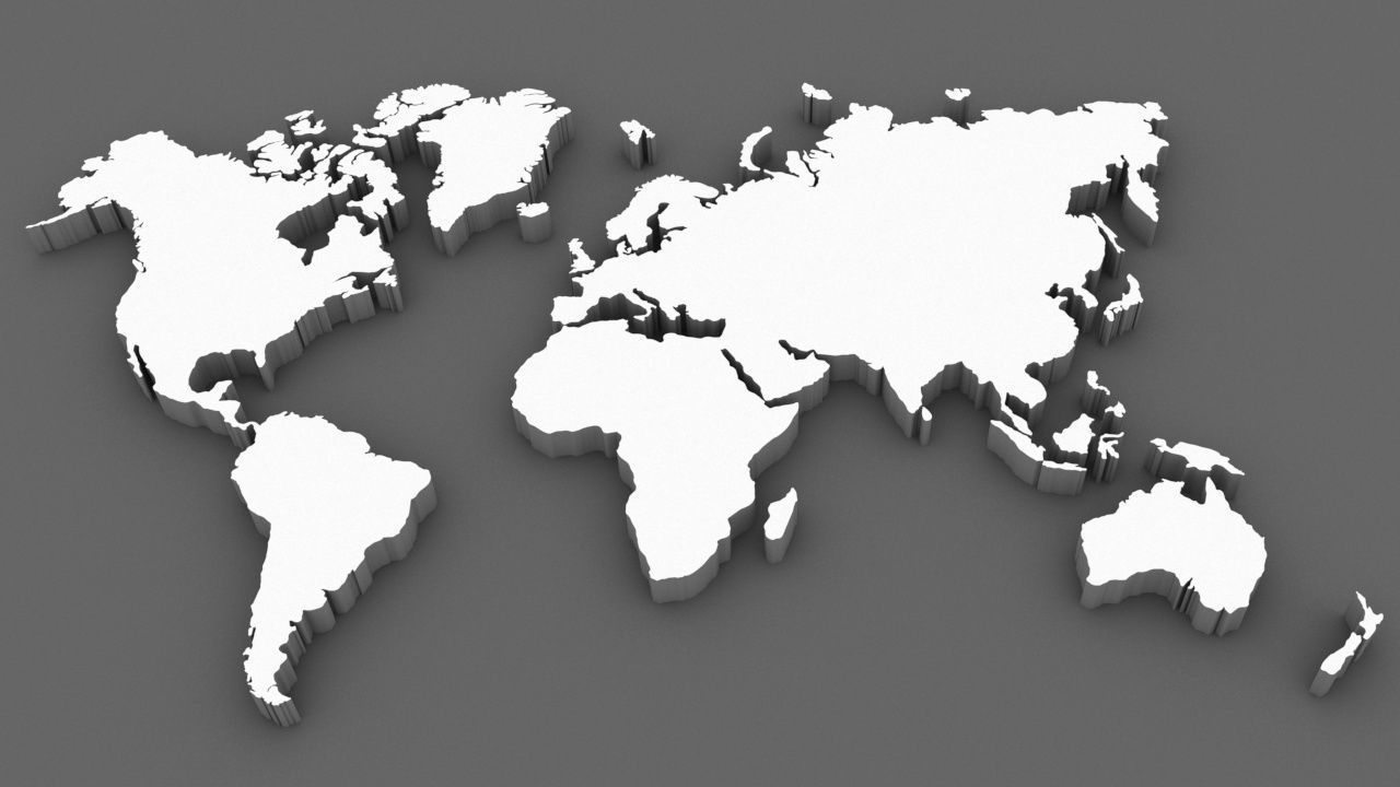 World Map 3d Model.3d Model World Map Cgtrader