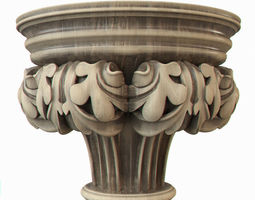 Gothic pilaster 3D