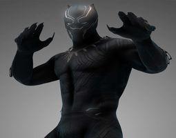 3D asset Black Panther MCU