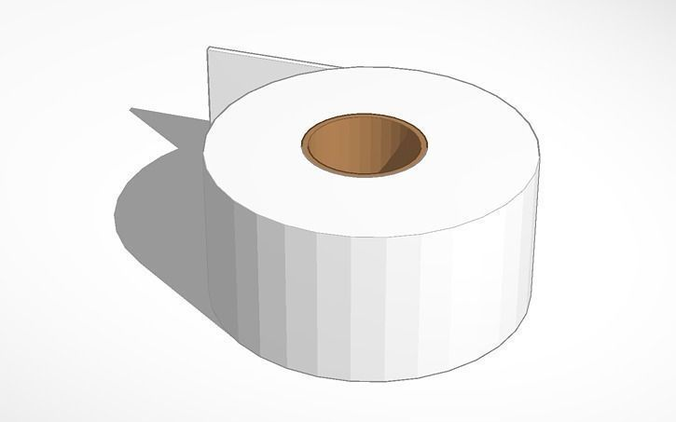 toilet paper free 3d model 3d printable obj