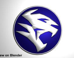 Button Logo Proton Car (new design) 3D Model