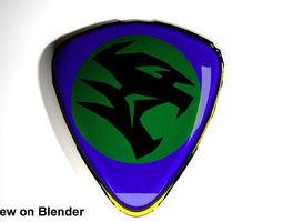 Crest Logo Proton Car (new design) 3D Model