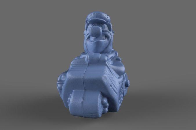 3D Fred Flintstone Toy model