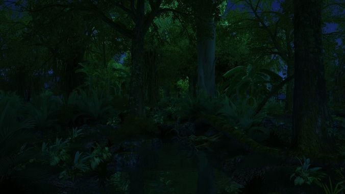 rainforest 3d model max tga 1