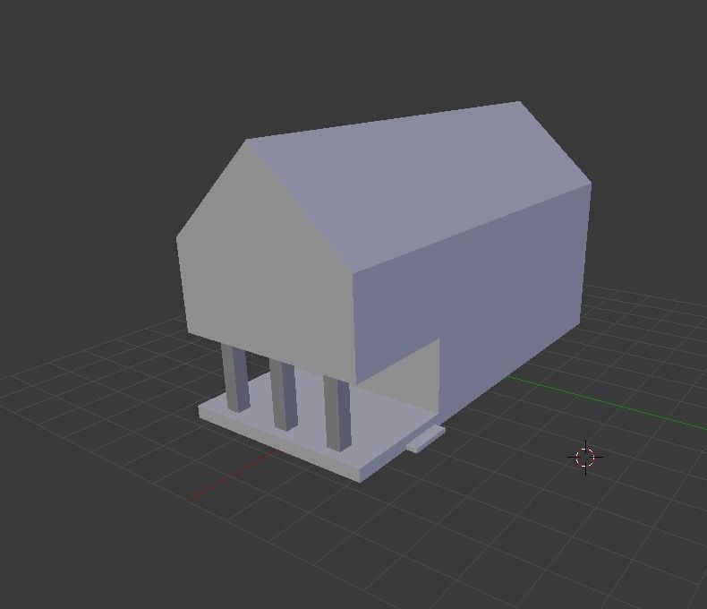 3d Asset Low Poly Simple House Cgtrader