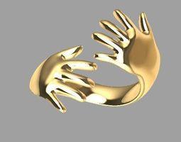 hand ring female 3D printable model