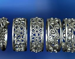 jewellery ring pack 5 models