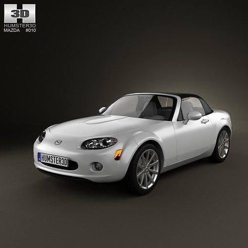3d model mazda mx 5 miata 2009 cgtrader. Black Bedroom Furniture Sets. Home Design Ideas