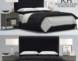 3D model RH Lawson Upholstered bed