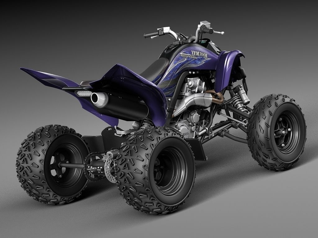 yamaha raptor 700s 2014 quad 3d model max obj 3ds fbx