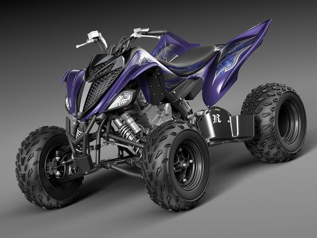 yamaha raptor 700s 2014 quad 3d model max obj 3ds fbx c4d. Black Bedroom Furniture Sets. Home Design Ideas