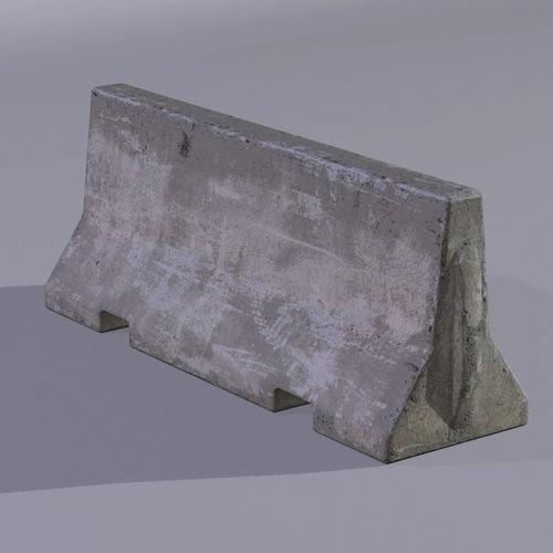 concrete barrier 3d model low-poly max obj mtl fbx tga 1