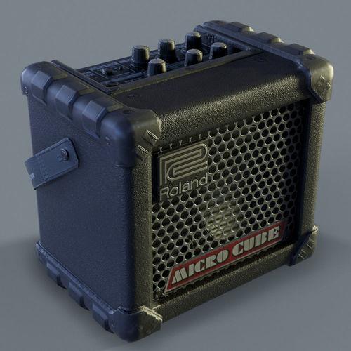 roland microcube guitar amplifier 3d model low-poly max obj mtl fbx tga 1