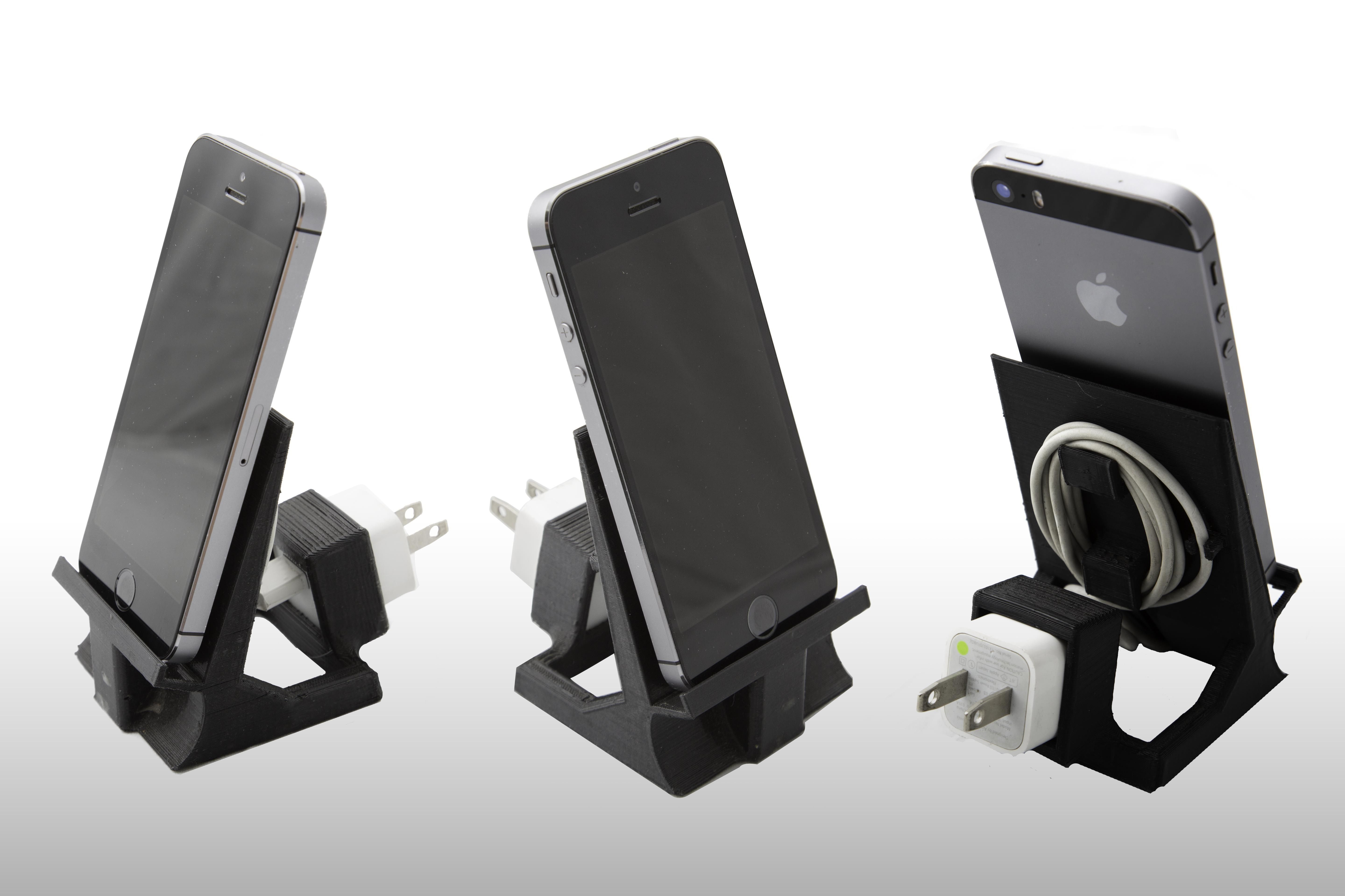 Charging Station For Electronics Iphone 5 6 Or Ipad Mini Stand With Speaker 3d Model 3d