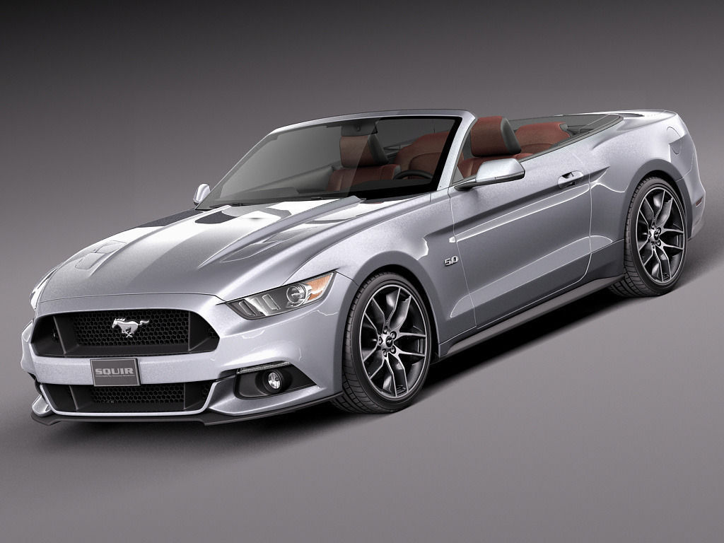 ford mustang gt convertible 2015 3d model max obj 3ds fbx c4d lwo lw lws. Black Bedroom Furniture Sets. Home Design Ideas