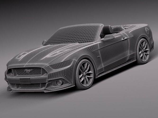 Ford mustang gt convertible 2015 3d model