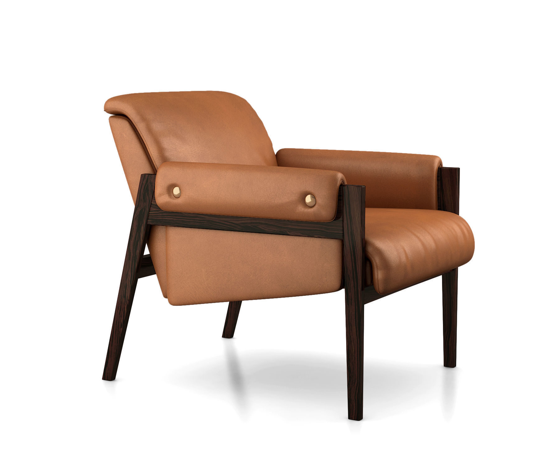 Interior 3d Model Stanton Leather Chair By West Elm