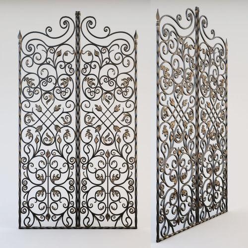 decorative grille 3d model max obj mtl stl 1