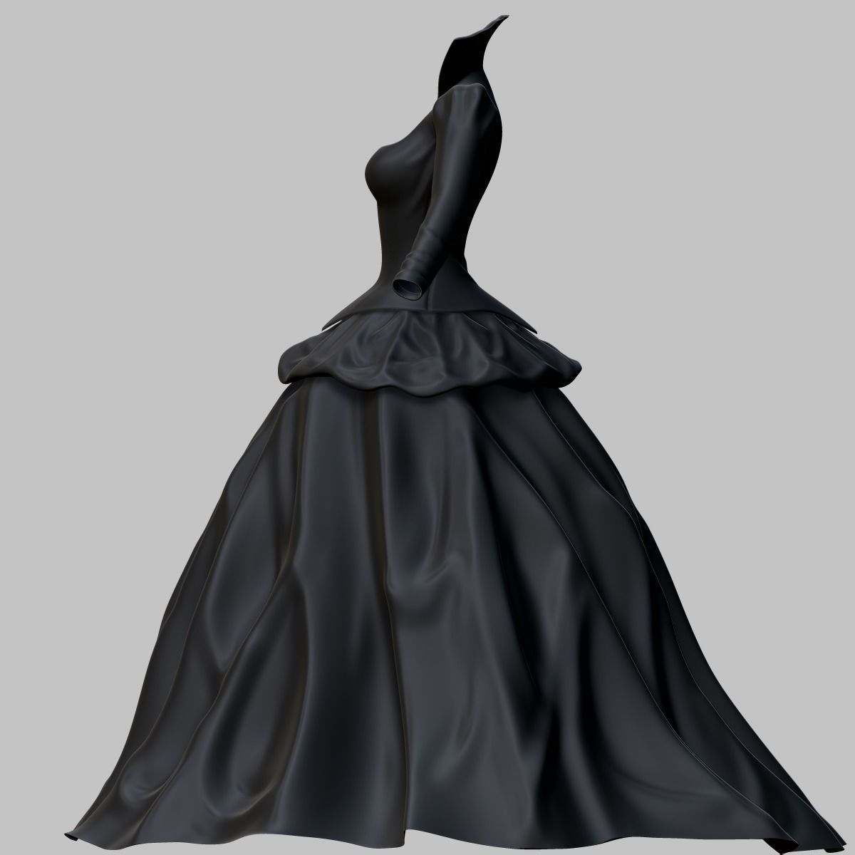 3D model Victorian Gothic Dress | CGTrader