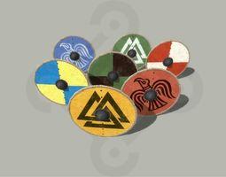 3D asset Viking round Shield
