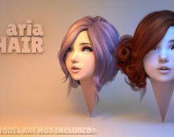 3D model Aria Hair
