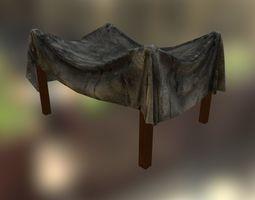 Dirty tent 3D asset