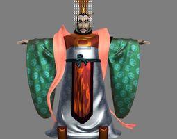 Cartoon emperor 3D model