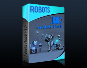 3D asset Rigged Robots Collection