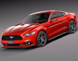 Ford Mustang EcoBoost 2015 3D Model
