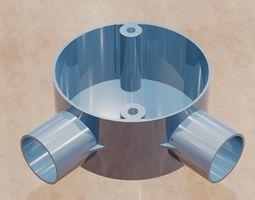 3D print model Angle conduit box -20mm