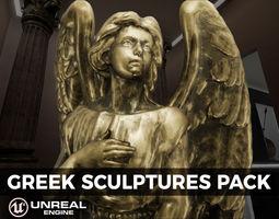 3D asset Detailed Greek Statues