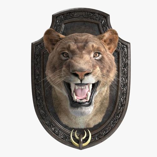lion trophy 3d model max fbx 1