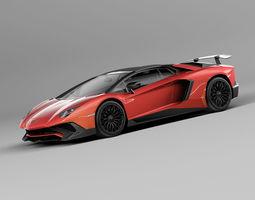 3D Lamborghini aventador lp vray supercar