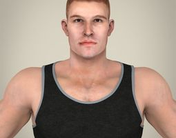 Realistic Handsome Man 3D Model