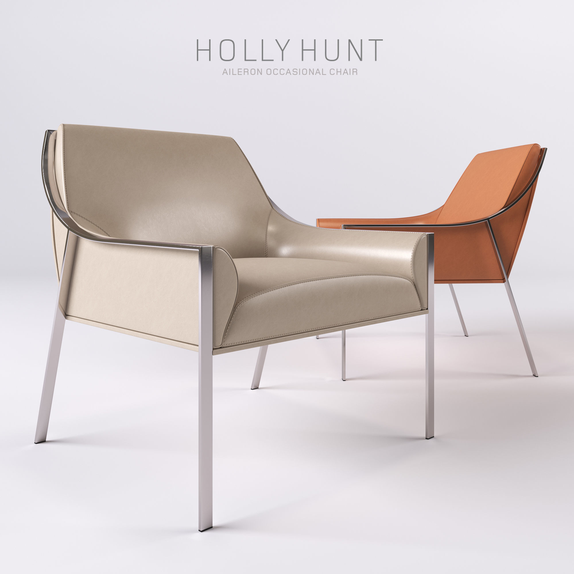 3d holly hunt aileron occasional chair cgtrader