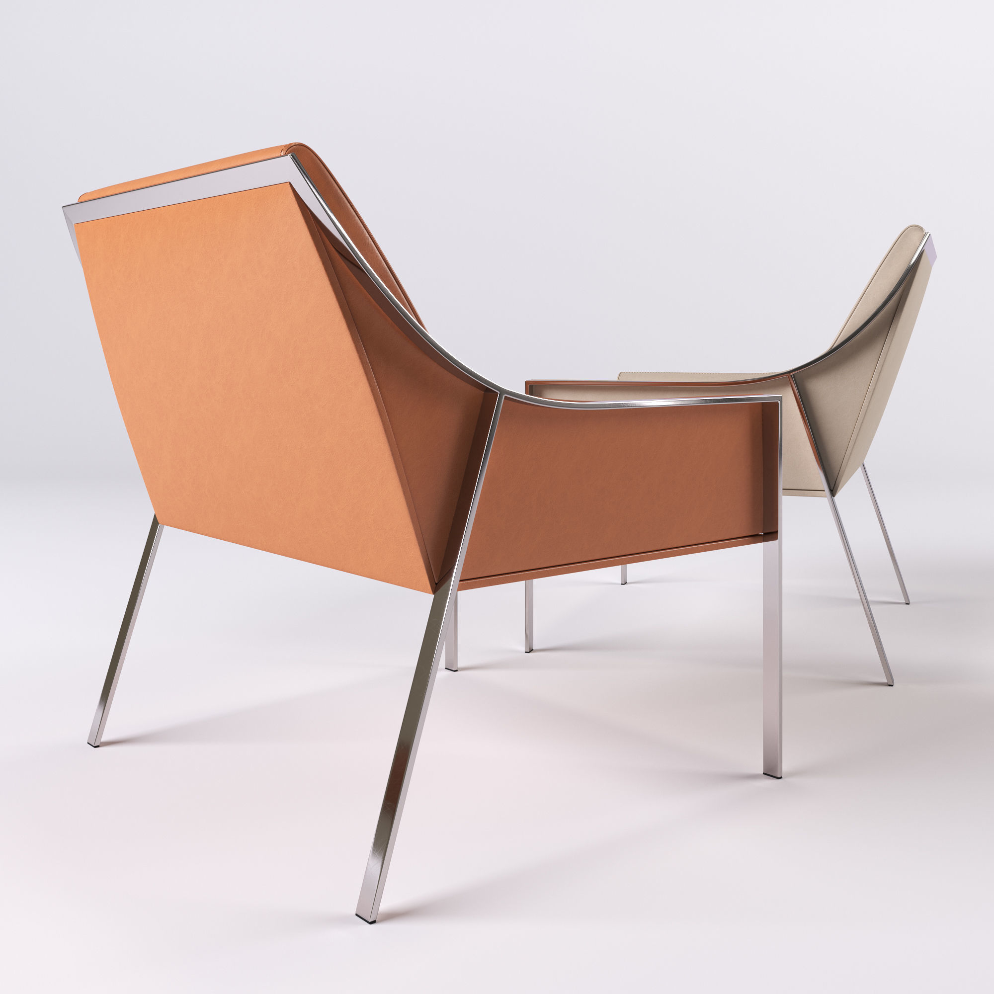 ... Holly Hunt Aileron Occasional Chair 3d Model Max Obj Fbx 2 ...