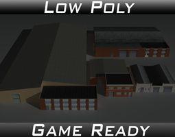 Factory Building Set 6 3D asset