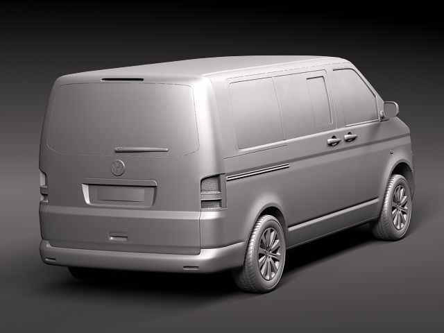 Volkswagen Multivan Car 3D Model .max .obj .3ds .fbx .c4d .lwo .lw