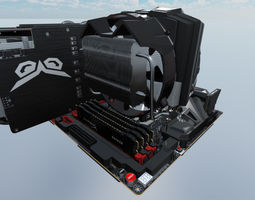 Computer Assembly 2017 game 3D asset