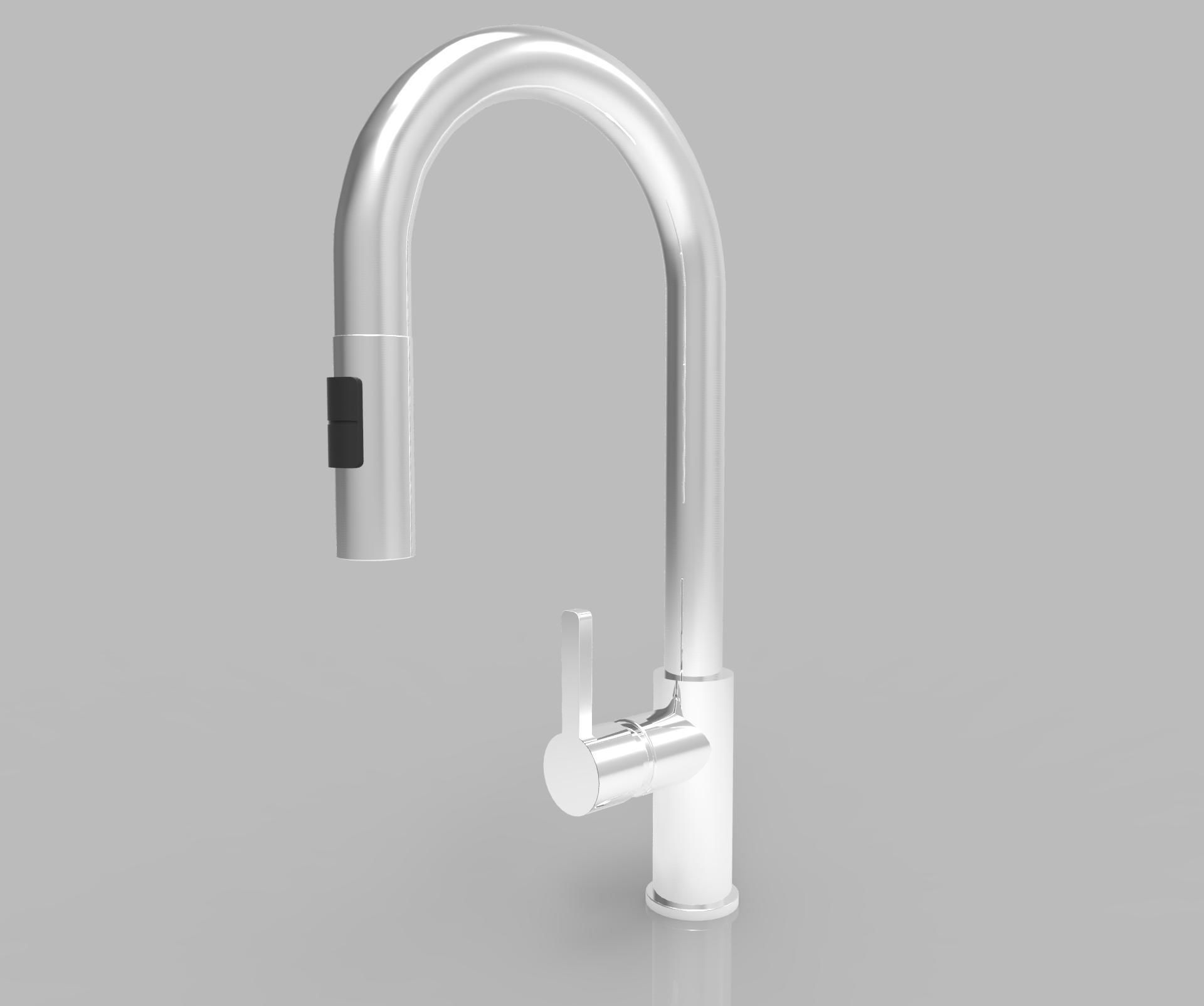 Kitchen Single Lever Mixer Tap 3D | CGTrader