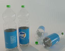 PET Bottle realistic 3D Model - PET Flasche realistisch