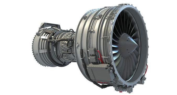 cfm56 turbofan aircraft engine 3d model max obj 3ds fbx c4d lwo lw lws 1