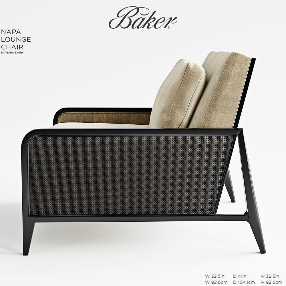 ... Baker Napa Lounge Chair 3d Model Max Obj Fbx Mtl Mat 2 ...