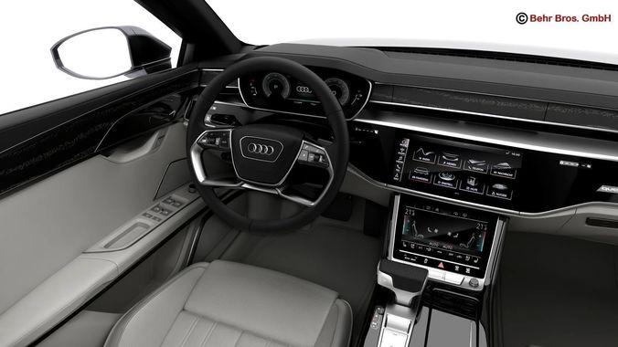 Audi A Audi D CGTrader - Audi a8 2018